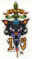 Alain Forbess Sticker - Luck 13 Cat