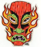 Alain Forbess Sticker - Tiki flames
