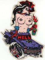 Alain Forbess Sticker - Hell Car