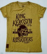 Oilwashed-Shirt von King Kerosin - Lone Riders / Gold
