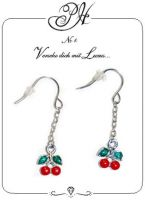 Patty Hayton Dangle Earring - Cherries