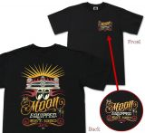 MOON EYES T-Shirt - Scaloop Shoebox / MQT076bk