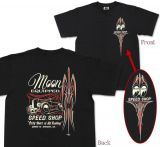 MOON EYES T-Shirt - Roadster Speed Shop / MQT075bk