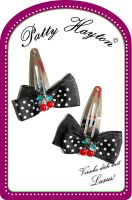 Patty Hayton Hairclips - Bow Cherry