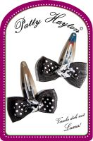 Patty Hayton Hairclips - Bow an Bird