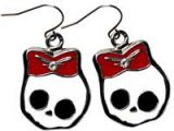 Earring Skully - Red