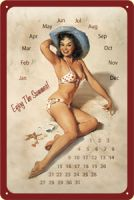 Nostalgie Steel Calender - Pinup / Enjoy the Summer!