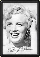 Blechpostkarte - Marilyn Monroe Smile