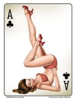 Grosser Pin up Sticker / St-JA471