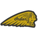 Patch - Indian Head / Gelb - schwarz