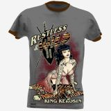 King Kerosin Slub Jersey T-Shirt  Tjm4-RTW / Restless & Wild