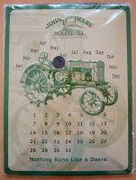 Nostalgie Blech Kalender gross - John Deere Genuine