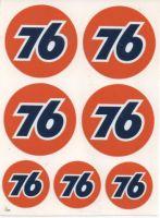 Vintage Race Sticker - 76 Set.
