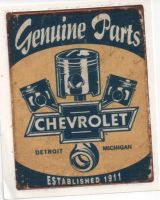 Vintage Race Sticker - Genuine Chevrolet Parts