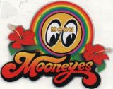 Race Sticker  St - Mooneyes Flowers