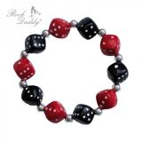 Rock Daddy Bracelets / Bracelet Dice in black/red