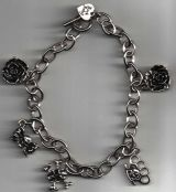 Rock Rebel Bracelets / Rose-Knukles-Skulls