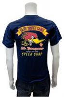 CLAY SMITH CAMS T-Shirt  T- Cst086ny / Vintage Speed Shop - Blau