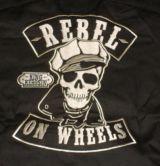 KING KEROSIN BESTICKTE RETRO Shirt / Rebel on Wheels