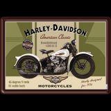 Blechpostkarte - Harley-Davidson Knucklehead
