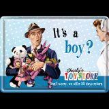 Blechpostkarte - It`s a Boy?