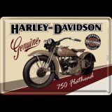 Blechpostkarte - Harley-Davidson Flathead