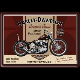 Blechpostkarte - Harley Davidson Panhead