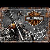 Blechpostkarte - Harley-Davidson Favourite Ride