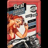Blechpostkarte - Best Garage / Red