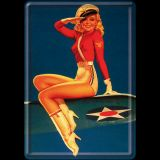 Blechpostkarte - Pin up / Airforce