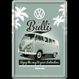 Blechpostkarte - VW Retro Bulli