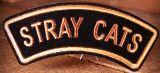Patch - Stray Cats / Schriftzug-gold