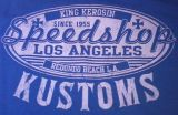King Kerosin Regular T-Shirt blau - Speed Shop Kustom