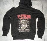 King Kerosin Bestickte Hoodie Jackets - Vintage Engine - Limited Edition