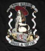 King Kerosin Bestickte Hoodie Jackets - Booze & Tattoo - Limited Edition