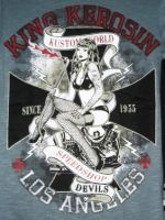 King Kerosin Slub Jersey T-Shirt  Tjm4-KWS / Kustom