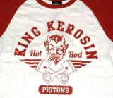 King Kerosin Raglan T-Shirt - Hot Rod Pistons