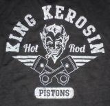 King Kerosin Vintage T-Shirt - Hot Rod Pistons / grau