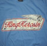 King Kerosin Regular T-Shirt blue / Indian