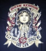 Queen Kerosin Longshirt / Nst - QRP / Only God-schwarz