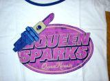 Queen Kerosin Girls Kontrast T-Shirt CTG2-QSP / Queen Sparks