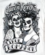 Queen Kerosin Longshirt / Nst - True Romance / weiss