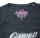 Queen Kerosin V-Neck T-Shirt Tvg-La Muerte Dulce