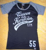 Queen Kerosin Girls Raglan T-Shirt RTG-Q55 /Queen of the Road