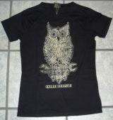 Queen Kerosin Vintage T-Shirt Tgv-Vintage Eule /schwarz
