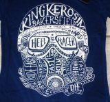 King Kerosin Batik Vintage Shirt - Hellracer / blau