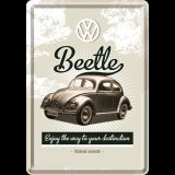 Blechpostkarte - VW Retro Käfer