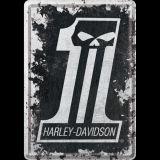 Blechpostkarte - Harley-Davidson Skull No 1