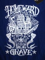King Kerosin Batik Vintage Shirt / Sailor`s Grave-blau