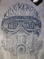 King Kerosin Batik Vintage Shirt - Hellracer / grau